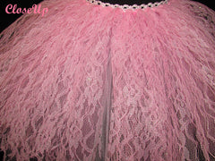 Women's Couture Glimmer Pink Lace Skirt