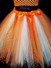 Women's Orange and Ivory Dreamsicle Inspired Skirt