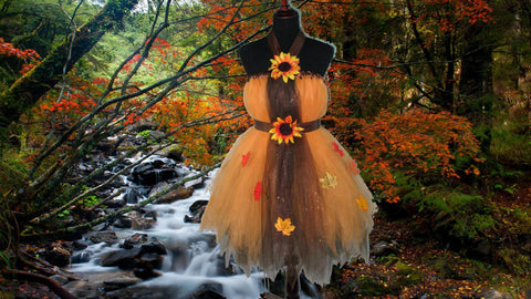 For the Fabulous Full Figured  Embellished Harvest Tulle Dress