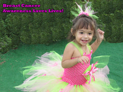 Dazzling Pink and Citrus Breast Cancer Awareness Tutu