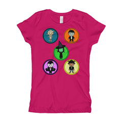 New and Fun Halloween Characters Girl's T-Shirt