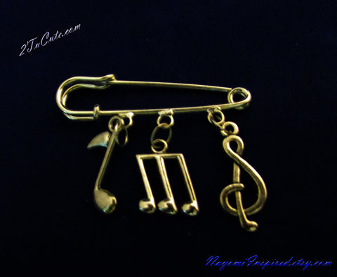 Fashion Music Jewelry Pin/Brooch