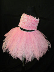 Children's Couture Glimmer Pink Lace Skirt