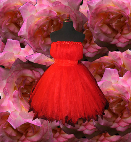 Lady in Red Tulle Dress