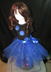 Blue Zebra Animal Print Tutu