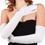 GANTS STRETCH FUSCHIA 60 CM TAILLE ASSORTIES