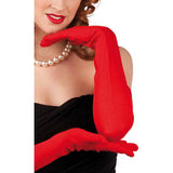 GANTS STRETCH ROUGES 60 CM TAILLE ASSORTIES