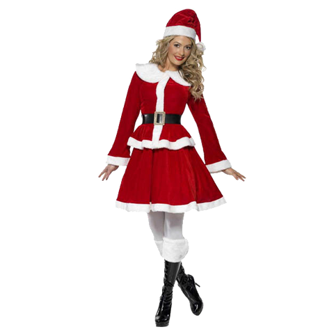 COSTUME MISS SANTA VELOURS