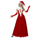 COSTUME MISS SANTA VELOURS LONGUE