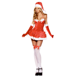 COSTUME MISS SANTA FEVER VELOURS