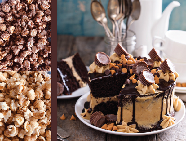 Chocolate Peanut Butter Blend Gourmet Popcorn