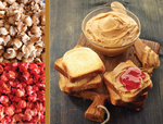 Peanut Butter & Strawberry Jelly Gourmet Popcorn