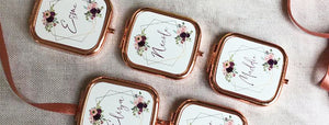 Beautiful Personalised Rose Gold Compact Mirrors | Yours Blissfully Personalised