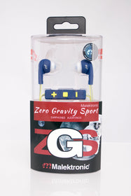 Malektronic Zero Gravity Sport Wireless Earphones with Reflective Wire