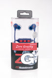 Malektronic Zero Gravity Wireless Earphones - Bolts Blue