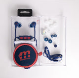 Malektronic Zero Gravity Bluetooth Earphones - Bolts Blue