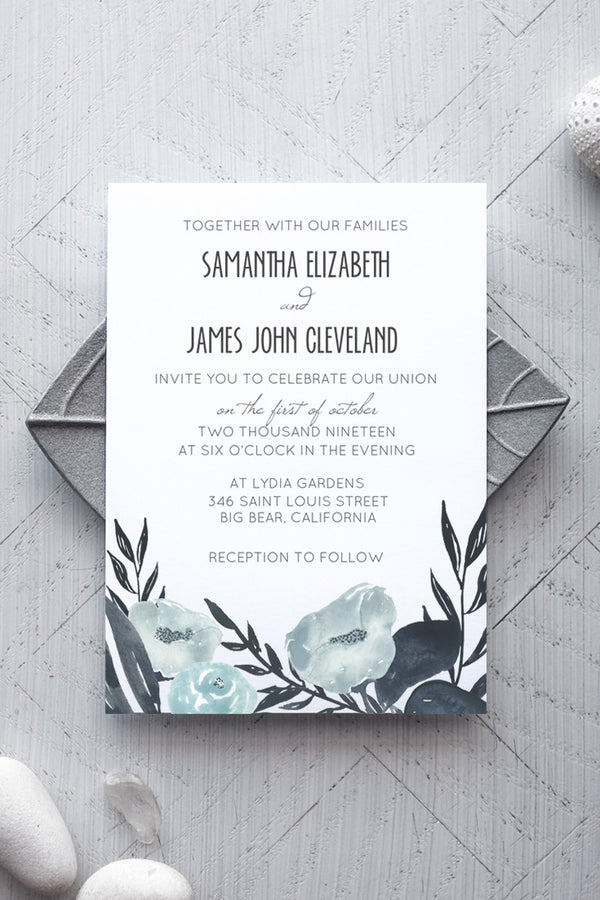 Azure Wedding Invitation Template