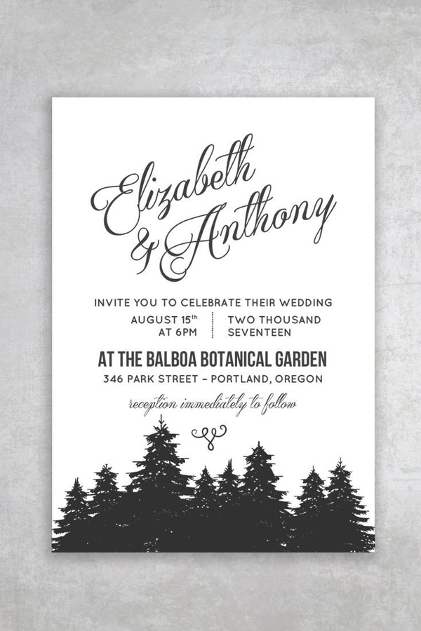 Budget Friendly Rustic Printable Wedding Invitation - Cambria - by alchemiepress.com