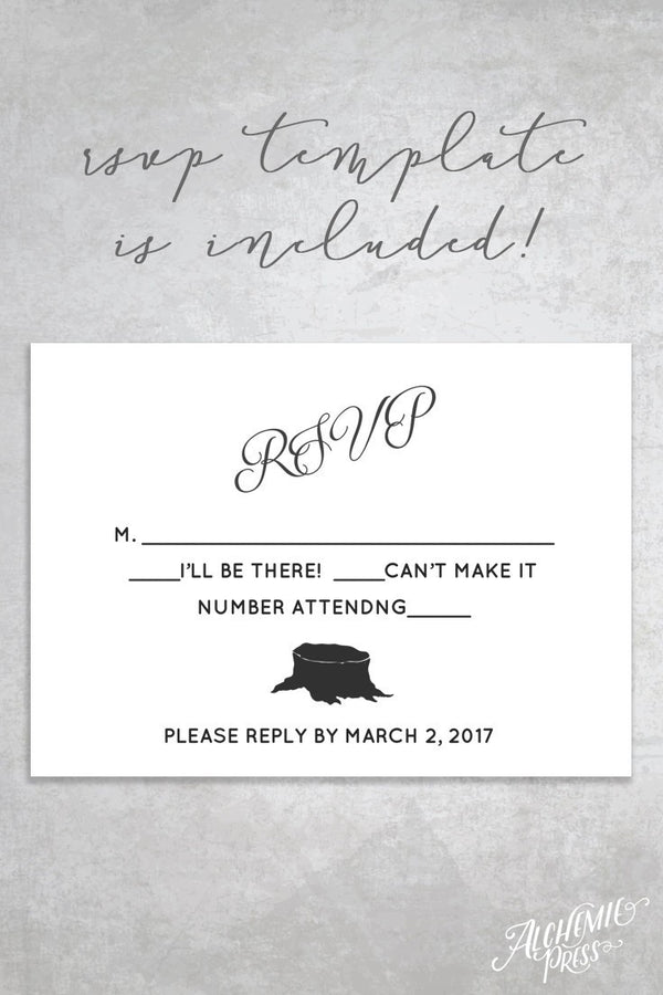 Invitation - Cambria Printable Wedding Invitation