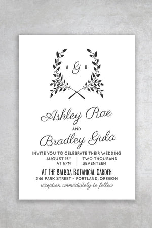 Fox Printable Diy Wedding Invitation Template  Alchemie Press