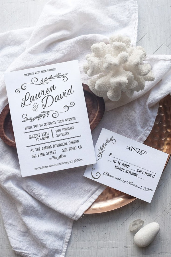 DIY Rustic Wedding Invitation Template - Rustica - by alchemiepress.com