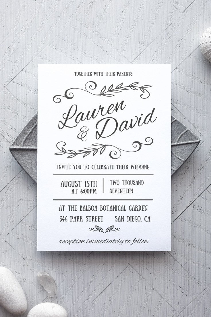 graphic about Printable Rustic Wedding Invitations referred to as Rustica Printable Wedding ceremony Invitation
