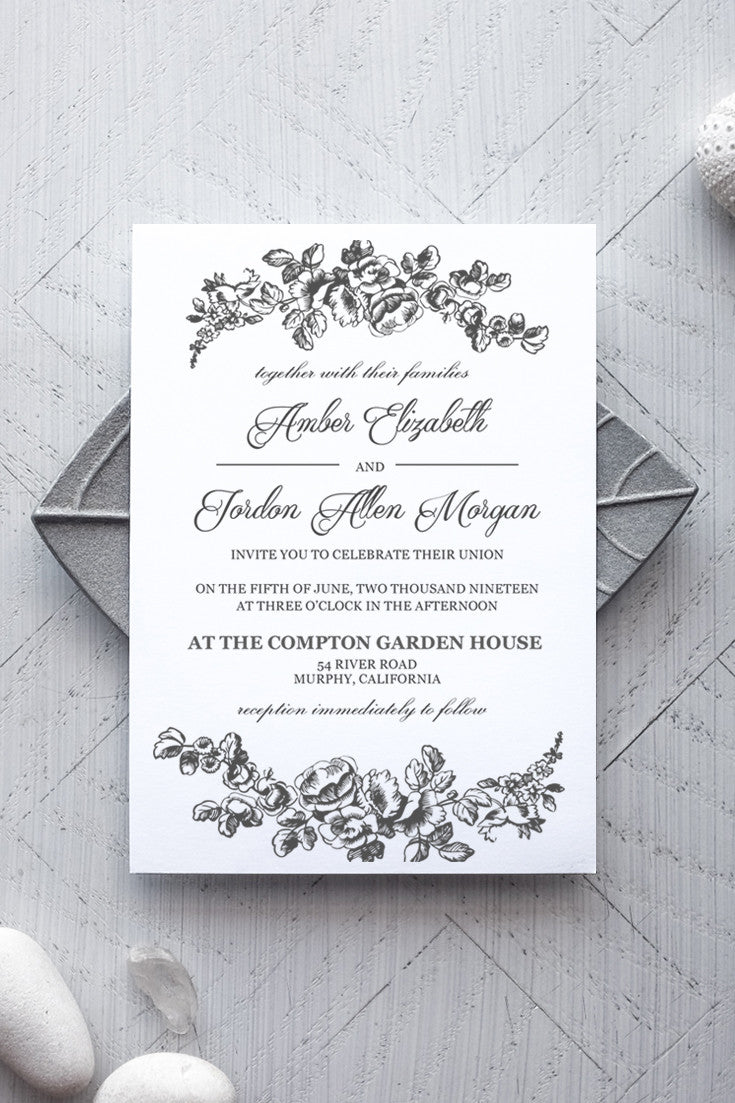 Printable Wedding Invitation Template - Rustic - Alchemie Press