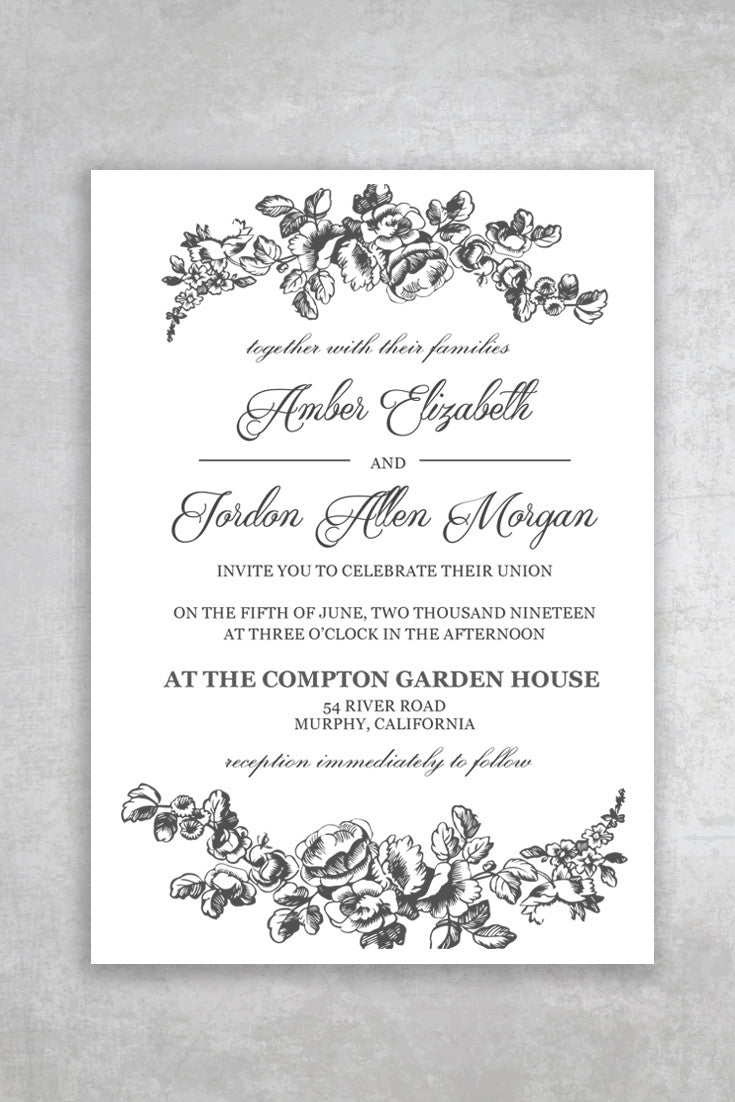 printable wedding invitations templates - Yelom.myphonecompany.co