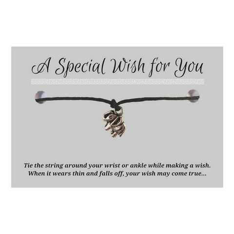 Elephant Charm WISH BRACELET/ ANKLET 14 Colours Hemp with Silver Tone Charm - Vilda Fashion Jewellery - 1