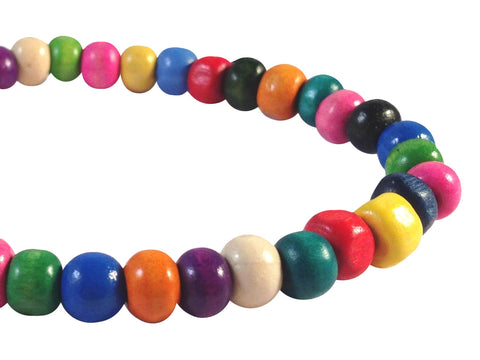 ANKLET with STAR Charm Multi-Colour Wooden Beads on Elastic - Vilda Fashion Jewellery - 2