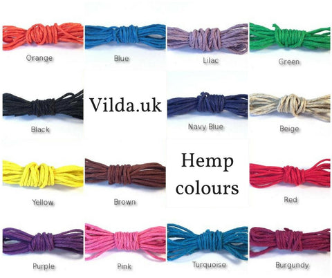 Howlite Charm Bead WISH BRACELET/ ANKLET Adjustable 14 Colours Hemp - Vilda Fashion Jewellery - 2