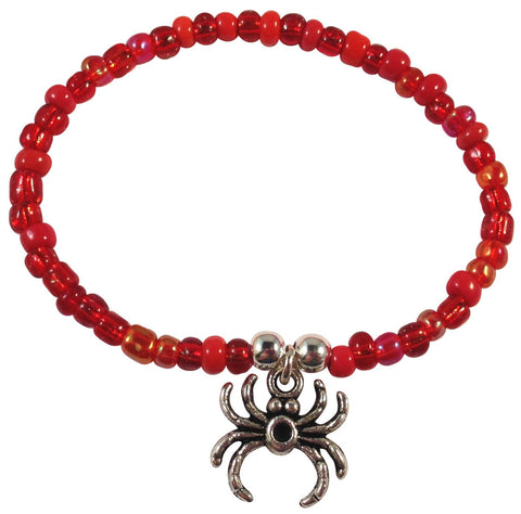 Spider Charm BRACELET 9 Colour Choices Seed Glass Beads and Silver Tone Beads - Vilda Fashion Jewellery - 4