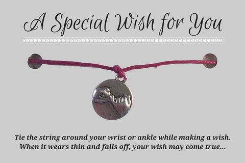 Pinky Promise Charm WISH BRACELET/ ANKLET 14 Colours Hemp with Silver Tone Charm - Vilda Fashion Jewellery - 3