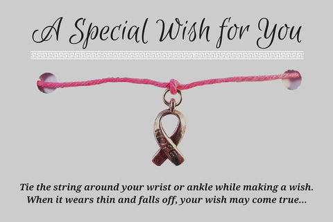 Hope Charm WISH BRACELET/ ANKLET 14 Colours Hemp with Silver Tone Awareness Charm - Vilda Fashion Jewellery - 3