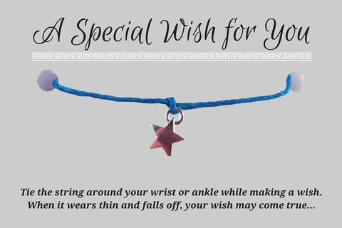 Dangly Star Charm WISH BRACELET/ ANKLET 14 Colours Hemp with Silver Tone Charm - Vilda Fashion Jewellery - 3