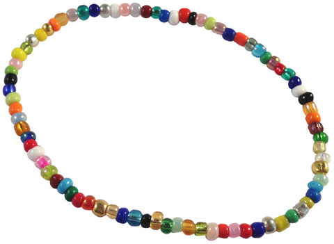 ANKLET Slim Glass Seed Beads 9 Colour Choices on Elastic Plain Design - Vilda Fashion Jewellery - 1