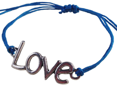 Dainty LOVE SYMBOL Hemp Bracelet 14 Colours One Size Fits All Handmade Friendship - Vilda Fashion Jewellery - 3