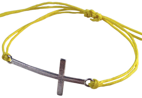 Dainty CROSS SYMBOL Hemp Bracelet 14 Colours One Size Fits All Handmade Friendship - Vilda Fashion Jewellery - 6