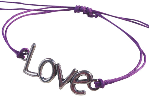 Dainty LOVE SYMBOL Hemp Bracelet 14 Colours One Size Fits All Handmade Friendship - Vilda Fashion Jewellery - 5