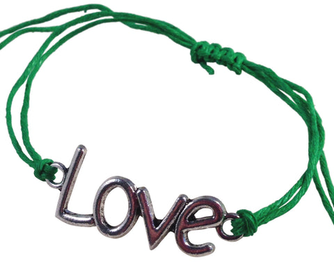 Dainty LOVE SYMBOL Hemp Bracelet 14 Colours One Size Fits All Handmade Friendship - Vilda Fashion Jewellery - 4