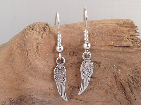 ANGEL WINGS EARRINGS Tibetan Style Silver Tone Charms on Nickelfree Hooks - Vilda Fashion Jewellery - 2