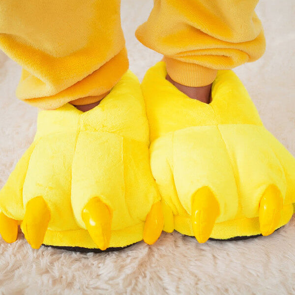 Yellow Monster Claw Slippers | Wonzee