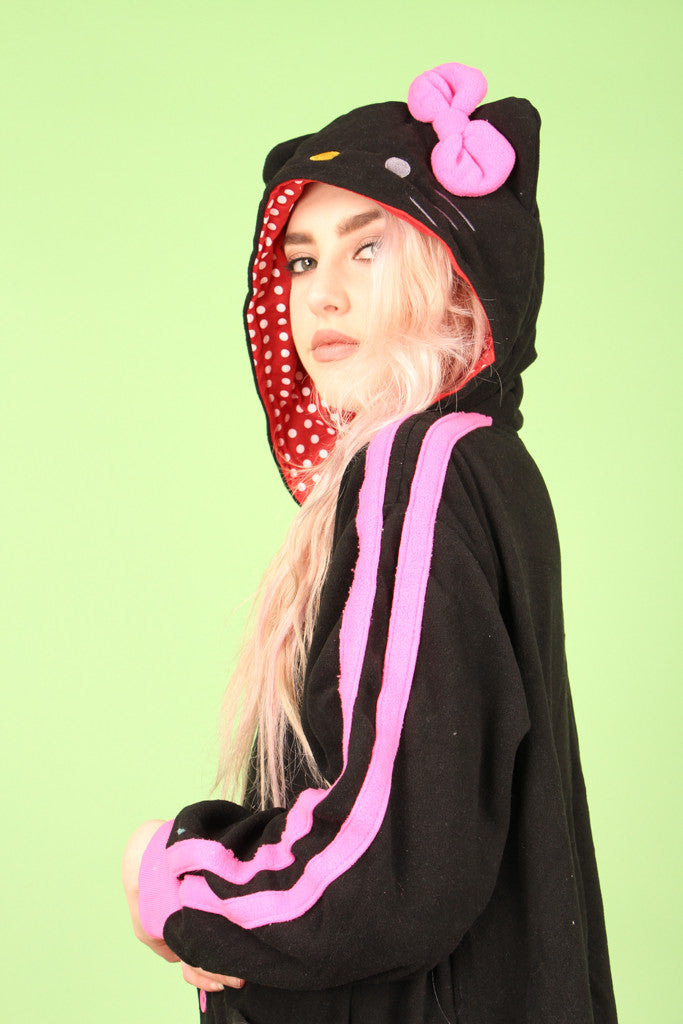 Black Hello Kitty Onesie | Onesieful