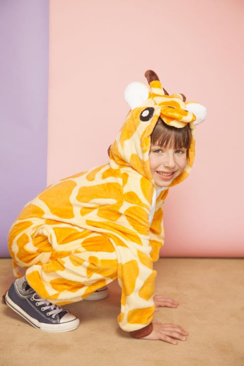 Orange Giraffe Kids Onesie | Onesieful