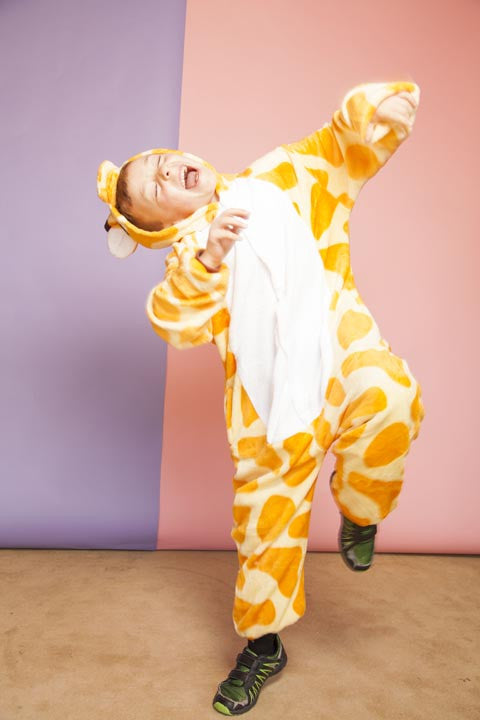 Orange Giraffe Kids Onesie