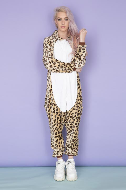 Cartoon Leopard Print Onesie | Primark