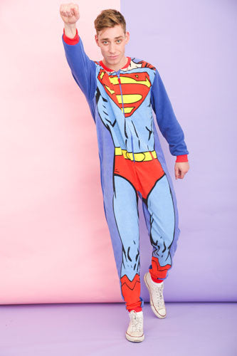 Mens Muscle Up Superman Onesie | Primark