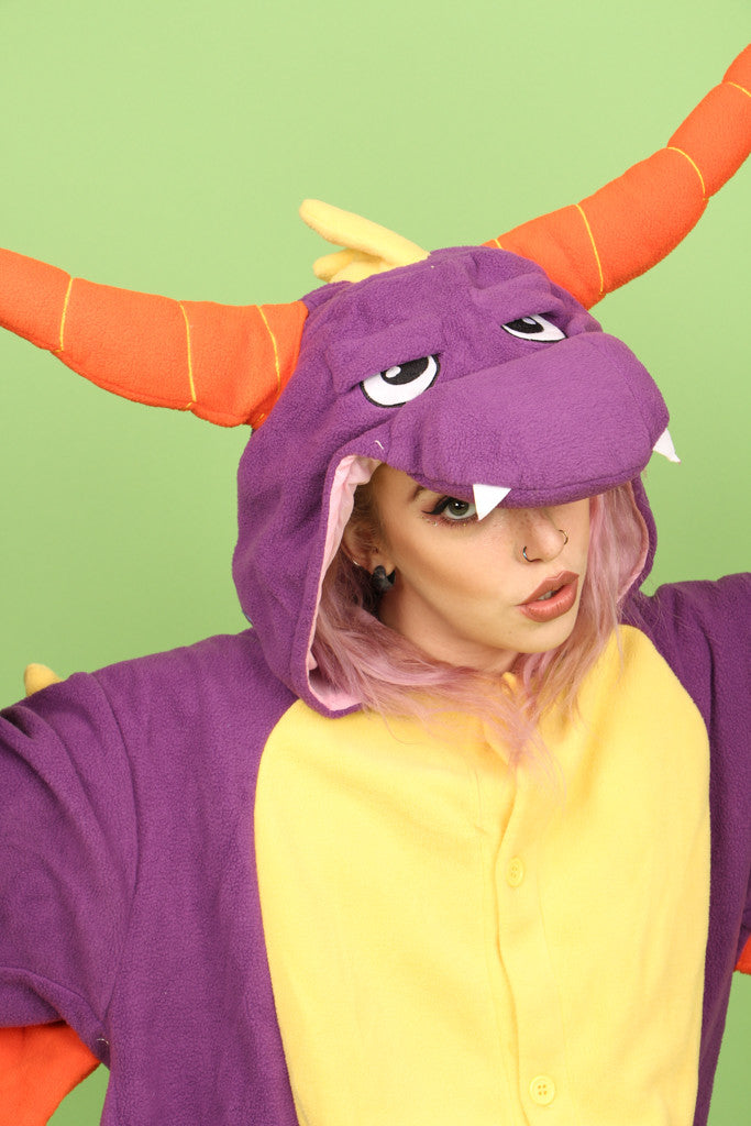 Premium Royal Purple Dragon Onesie | Onesieful
