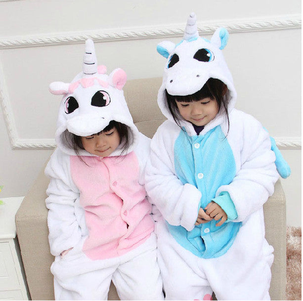 Pale Pink Unicorn Kids Onesie | Onsieful