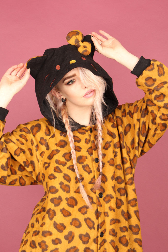 Hello Kitty Leopard Print Onesie | Onesieful